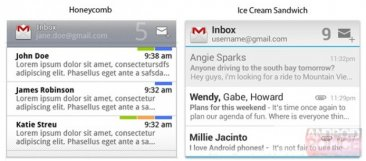 comparaison-android-widget-gmail-honeycomb-ice-cream-sandwich