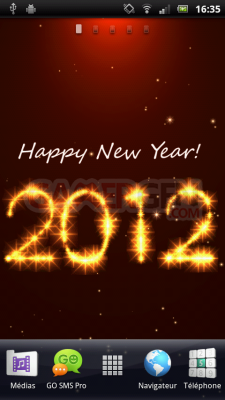 3D New Year Live Wallpaper device8