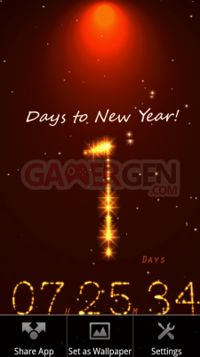 3D New Year Live Wallpaper device3