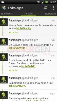 Application Twitter Slices for Twitter AndroidGen