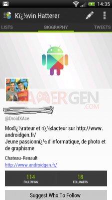 Application Twitter Slices for Twitter AndroidGen2