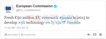 Tweet_Commission Europeenne_reseau_5G