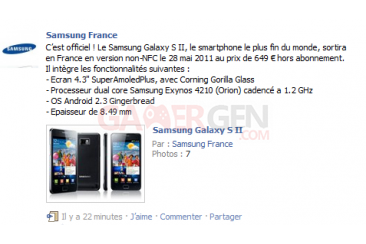 samsung-france-annonce-facebook-galaxy-sii-prix-date