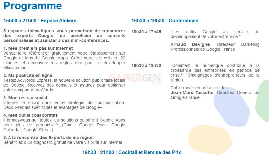 Google show programme