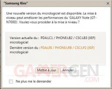 Mise à jour Kies ICS Samsung Galaxy Note8