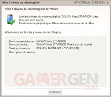 Mise à jour Kies ICS Samsung Galaxy Note11