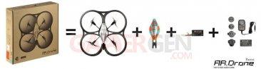 AR.Drone Contenu de la boîte