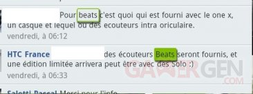HTC One X, Beats Audio, casque by Dr. Dre reponse_htc-france