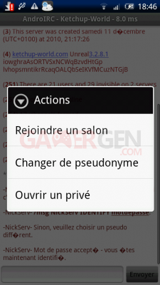 androIRC androirc