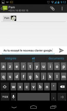 Clavier Google 4