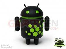 figurine-android-noir-vert-honeycomb-hexcode
