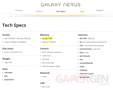 galaxy-nexus-specs-16-go-memoire-interne
