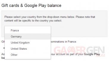 Google Play Gift cards_France_Allemagne