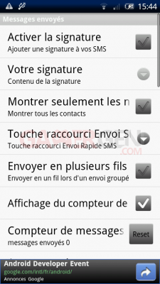 Handcent SMS android4