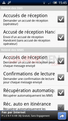 Handcent SMS android5