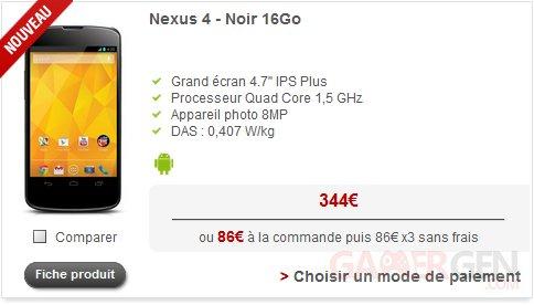nexus 4 free mobile