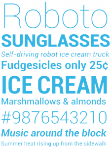 roboto-font-ice-cream-sandwich