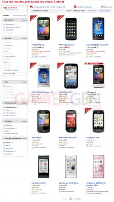 Téléphone portable (Toutes les offres, Androïd)- Tous les mobiles