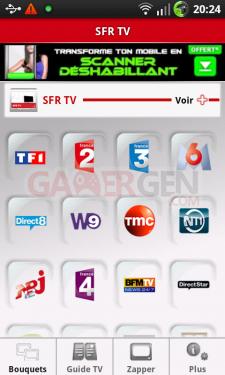 tutoriel pour avoir SFR TV sur ANDROID 2
