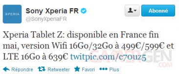 tweet-sony-xperia-tablet-z-prix-date-france